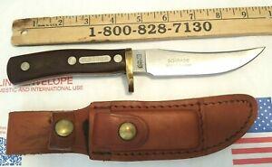 VINTAGE SCHRADE USA 160 OT OLD TIMER FIXED BLADE MOUNTAIN LION KNIFE W/ SHEATH