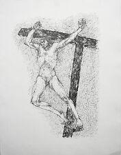 "Fritz Cremer, "" Gekreuzigter"" , Lithographie 1986"