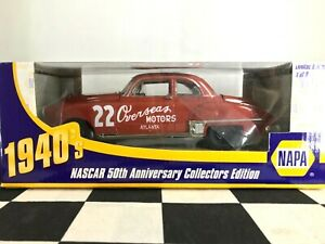 UNOPENED NAPA NASCAR 50th Anniversary Red Byron #22 Overseas 1949 Oldsmobile