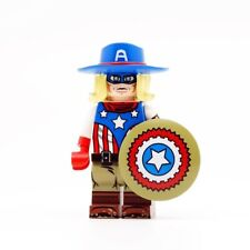 ⎡DRAGON BRICK ⎦Custom Old West Captain America Lego Minifigure