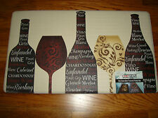 Chef Gear Memory Foam Anti Fatigue Kitchen Floor Mat Rug18x30 WINE Glass Floral
