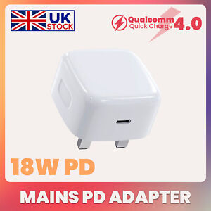 UK Plug PD 18W USB-C Type C Fast Wall Charger Adapter For iPhone 11 Pro Max STO