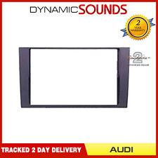 Autoleads DFP-05-07 Negro Doble Din Fascia Facia Panel De Sonido Envolvente Para AUDI A4