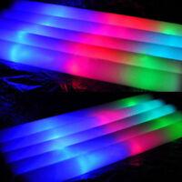 1-10 Light-Up Foam Sticks LED Rally Rave Cheer Tube Soft Glow Baton Wands