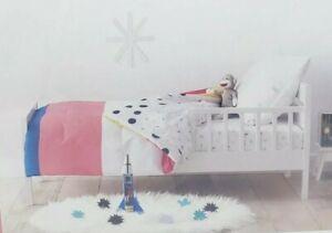 Toddler Striped Reversible Comforter - Pillowfort  NEW Pink White Blue