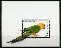 Niuafo'ou 2018 MNH Jandaya Conure Animals of World 1v M/S Parrots Birds Stamps