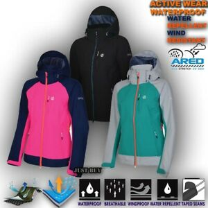 Womens Waterproof Jacket Hiking Camping Outdoor Gym Lightweight Hoodie Verita