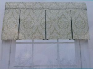 "New, Waverly Home Classics Donnington Linen Valance 52""x18"" #0792521"
