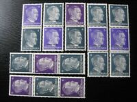 THIRD REICH WWII OCCUPATION OSTLAND mint stamp lot w/ color varieties! CV $36.00