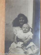 Vecchia foto di giovane MAMMA NAPOLI CON BAMBINO Novembre 1921 bimbo madre epoca
