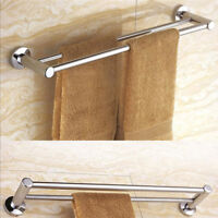 23 Inches Bath Double Towel Rail Stainless Steel Wall Mounted Towel Rack Hanger