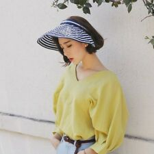 ee9aa2b2ee4 Lady Sun Shade Cap Face Neck Protection Outdoor Visor Hat Wide Brim Golf  Fashion