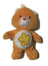 "Care Bears Plush Laugh a Lot Orange Stuffed Animal Star Bear 8"" 2003 Star"
