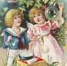 Antique Bubble Pipe Victorian Trade Card old Maple City Soap Soapbox Monmouth IL