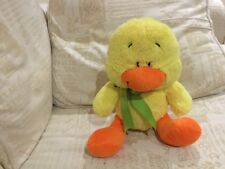 """10"""" 8TH WONDER ASDA YELLOW ORANGE DUCK CHICK LING SOFT CUDDLY TOY NEXT EASTER"""