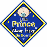 Non Personalised Child//Baby On Board Car Sign ~ No 1 Nephew On Board ~ L.Blue