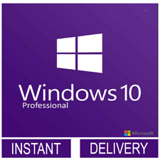 Instant Windows 10 Professional Genuine License Product Key 32/64 Bit
