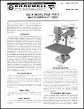 Delta/Rockwell  Drill Press Instruction Manual # 11-280