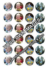24 x Your image / photo personalised Cup Cake Toppers ICING (up to 4 pics)