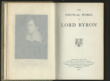 the poetical works of lord byron oxford press 1921 leather bound hc