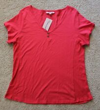NEW Extra Touch Women's red short sleeve top 100% cotton SIZE 2X