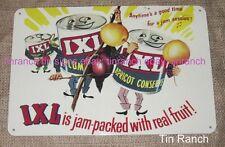 vintage IXL JAM TIN SIGN new retro metal advertising CAN FRUIT Australian KITSCH