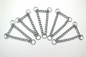 Chrome Plated Half Check / Martingale Chains - 13mm Rings 2mm Chain