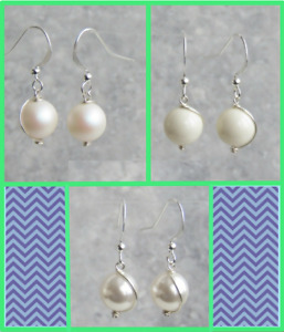 Gold / Silver / Rose Gold Plated Earrings With Swarovski Crystal Pearl