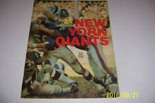 1971 NEW YORK GIANTS Official Yearbook Fran TARKENTON Alex WEBSTER Frederickson