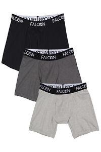 Falcon Underwear Cotton Stretch Boxer Briefs 6-Pack, Large