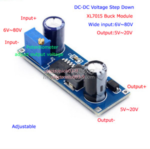 DC-DC Buck Step Down Converter 6V~80V 24V 36V 48V 72V to 5V 9V 12V Power Supply