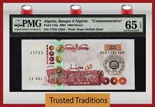 "TT PK 143a 2005 1000 DINARS ALGERIA BANQUE D'ALGERIE ""COMMEMORATIVE"" PMG 65 EPQ"