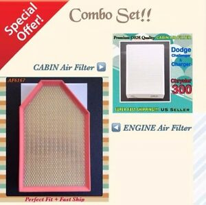 2011-2021 Challenger Charger & 300 High Quality Engine & Cabin Air Filter