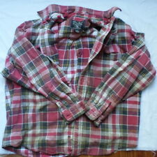 Vintag Very Distressed Flannel Shirt Zombie Apocalypse Eddie Bauer Thick CosPlay