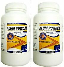 Humco Ammonium ALUM POWDER USP 6oz Food Processing / Pickling, etc ( 2 pack )