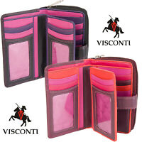 Visconti Women's Gift Boxed RFID 16 Card Real Leather Purse Wallet R13
