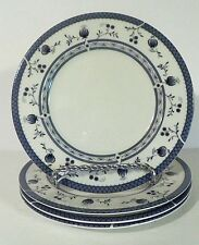"4 Royal Doulton England Cambridge Bread & Butter Plates 6 1/2 ""  White / Blue EC"