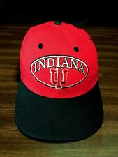 Vintage Red Indiana University IU Snapback Hat Cap Bloomington Purdue VGC 270d6609b4df