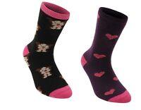 Miss Fiori Design Socks 2 Pack Girls UK C 8 - C13 D333-46