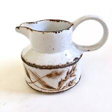 Vtg Midwinter Stonehenge England Brown Wild Oats Oven Tea Coffee Creamer Pourer