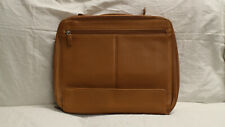 Levenger Laptop Bag Briefcase Brown Leather - Great Condition!