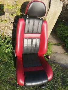 Mgf Mg Tf Red And Black Leather Drivers Seat Only