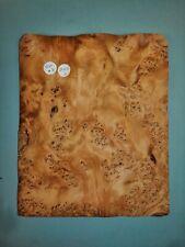 FOGLI consecutivi di American Burr impiallacciato in noce 19 x 25 cm AM#13 intarsiato