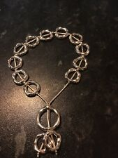 ladies chunky silver bracelet