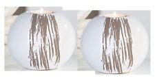 Casablanca Teelichthalter Keramik weiß 2er Set Kerzenhalter Teelicht 10x12 53410