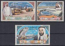 Abu Dhabi 1968 ** Mi.49/51 Vögel Falken Birds Falcon Airport Flughafen Brücke