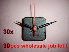 30 x Black Quartz Wall Clock Movement Mechanism Hands Repair Tool Parts Kit # 30