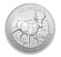 2013 Canadian Pronghorn Antelope 1 oz Silver Bullion Coin