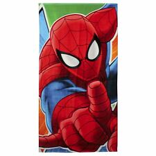 Official Spiderman Children Kids Cotton Beach Towels 140 x 70 cm - Multicolored