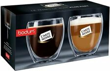 Bodum Pavina Glass Double-Wall Insulated Glasses (Set of 2) Cafe Noir Edition